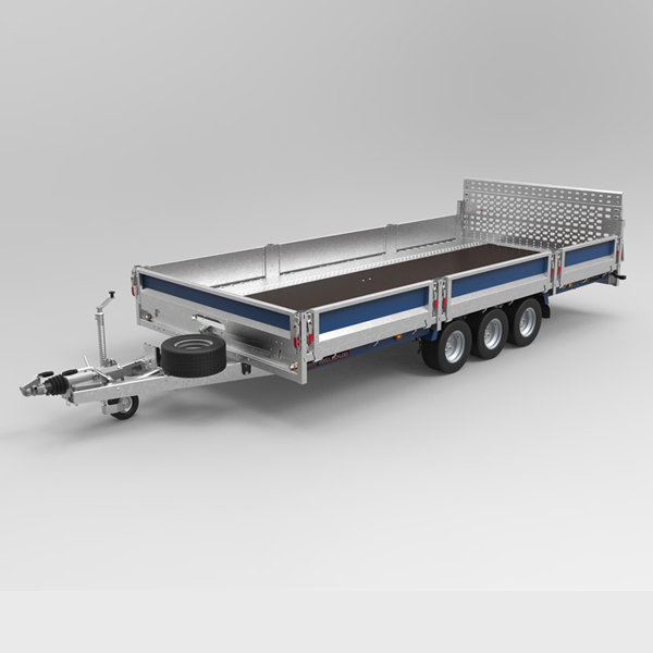 Vehicle flat deck trailer