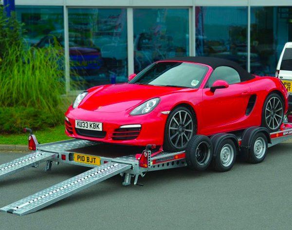 Porsche sports car transportation