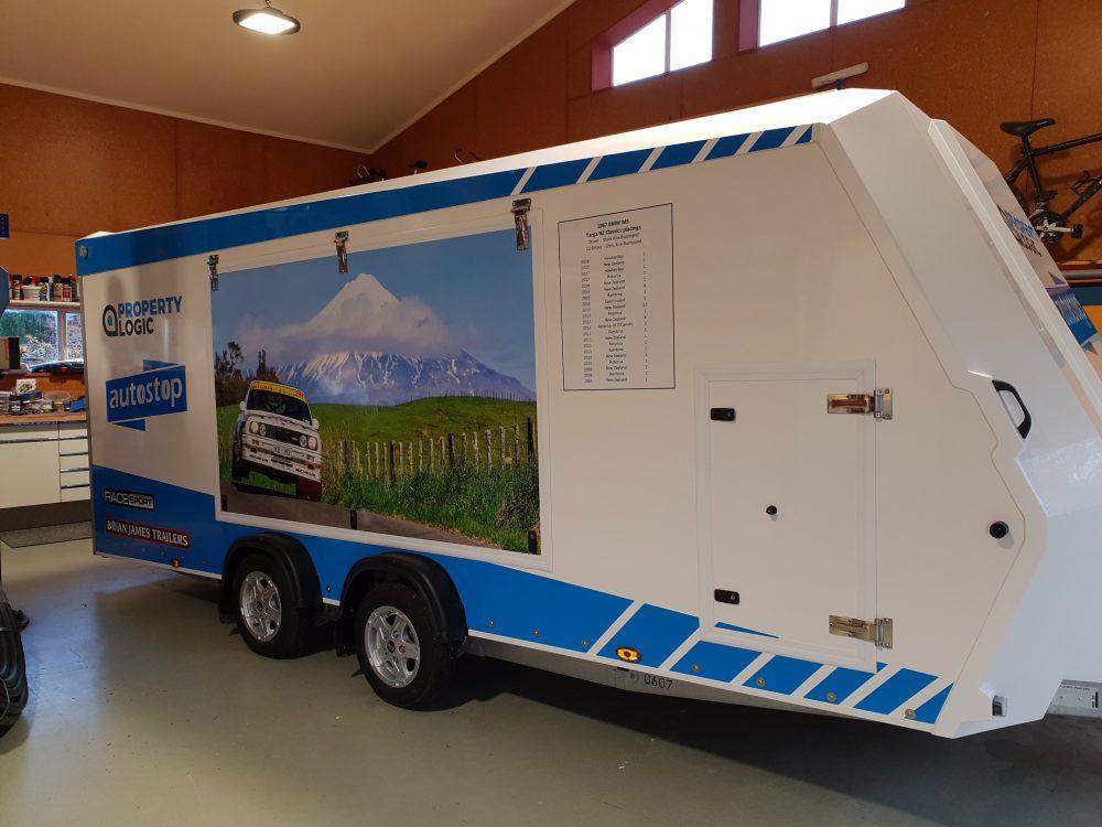 Enclosed Sports Race Car Transporter