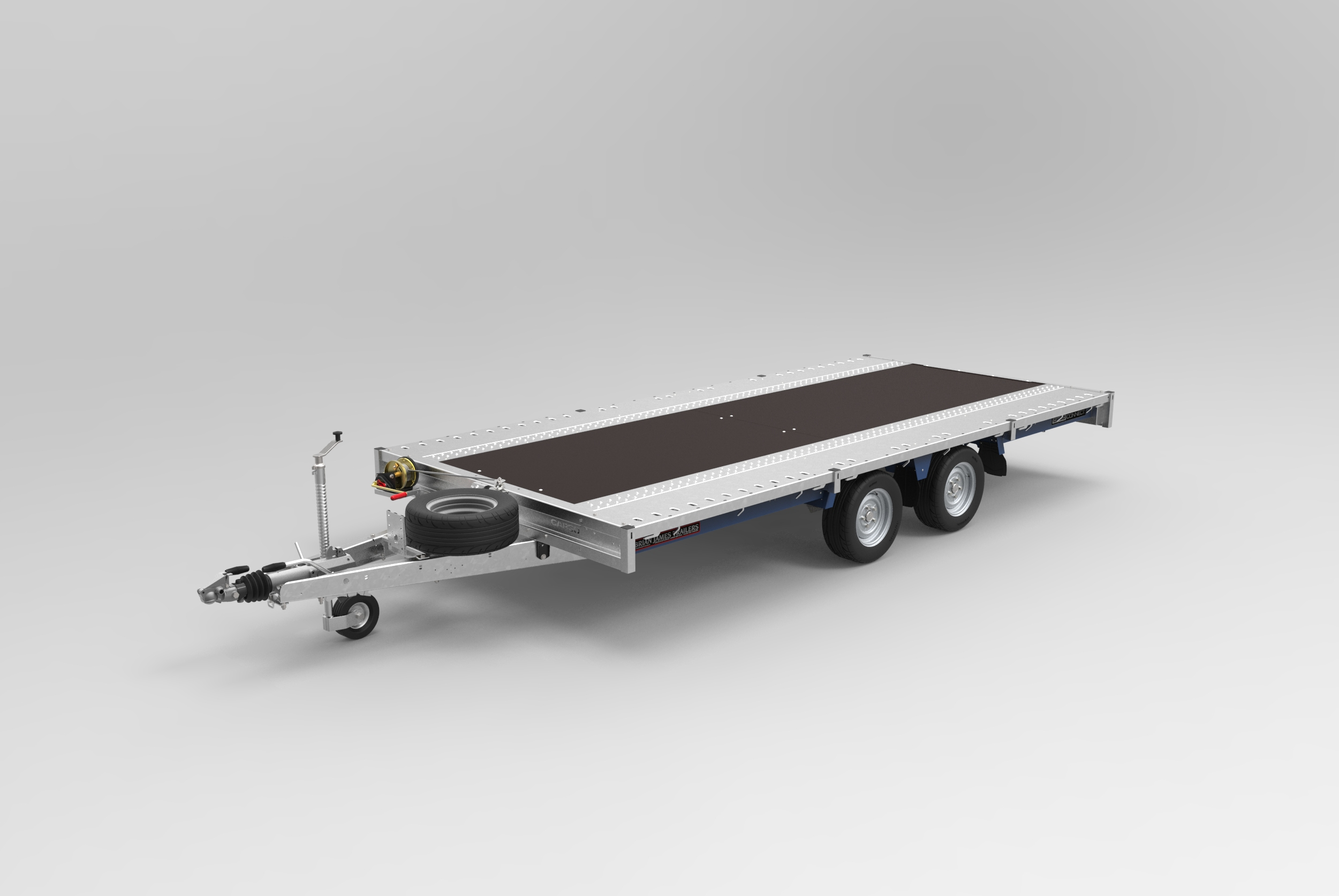CarGO Connect twin axle flat deck trailer