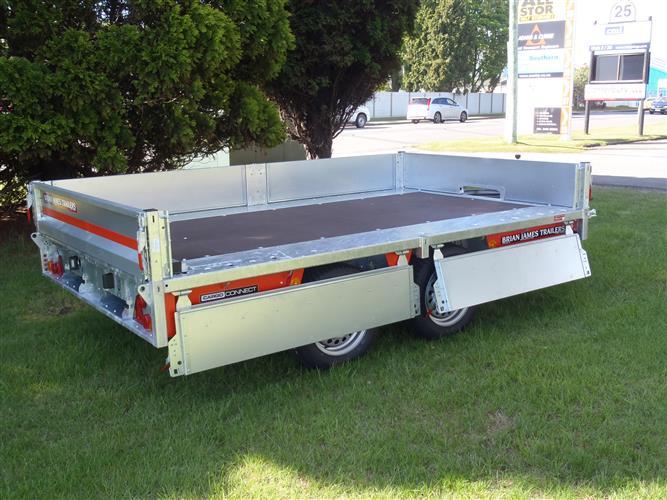Flat Deck transport trailer side open