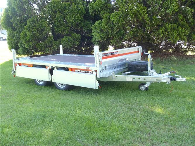 flat deck trailer sides down - Brian James