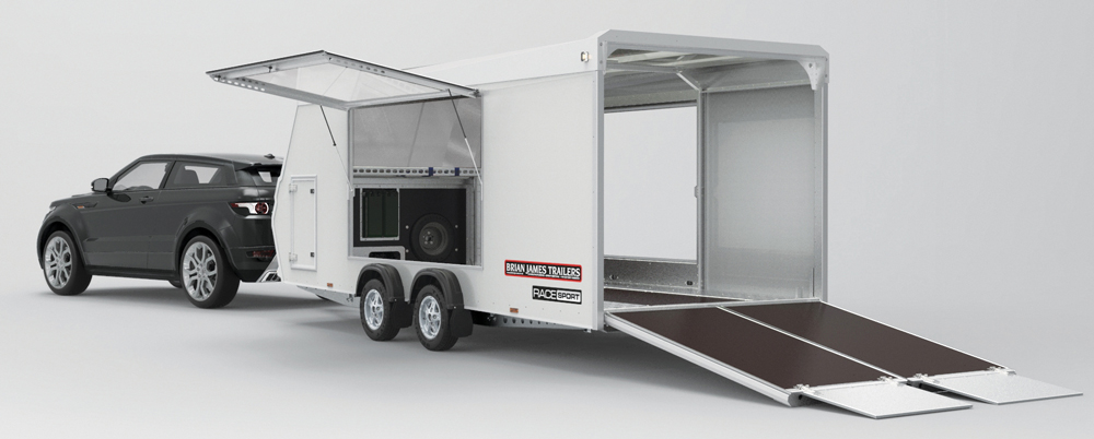 Race Sport covered trailer open