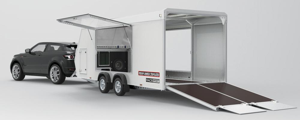 Race Sport covered trailer open