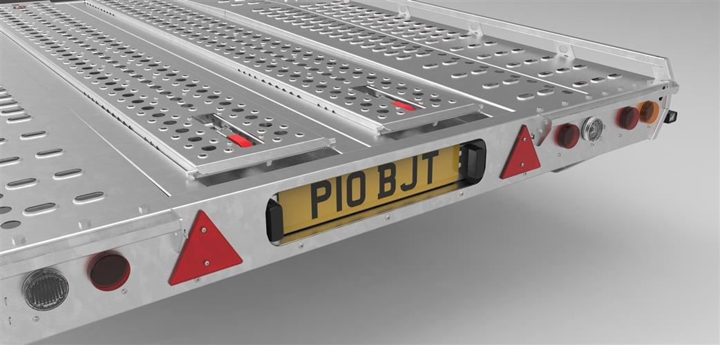 Transport Trailer Number Plate fixture