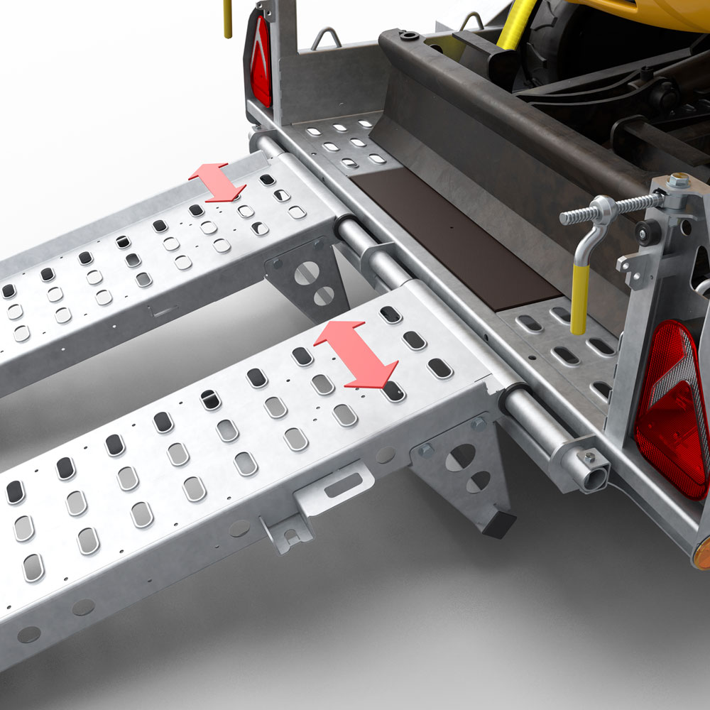 Ramp Fixture for a Digger Plant Trailer - Brian James