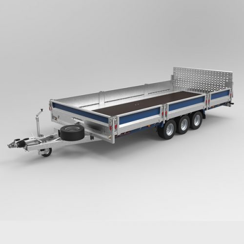 Vehicle flat deck trailer