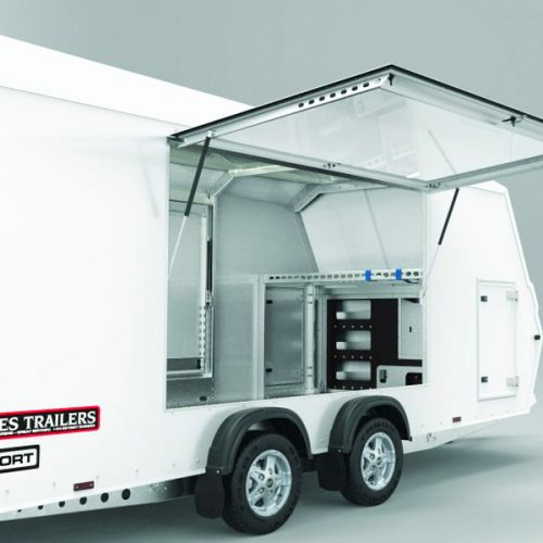 Racesport transport trailer open side