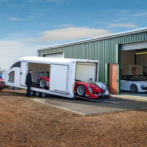 race sport enclosed car transporter