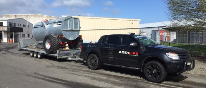 Tri Axle Brian James Trailer used by AgriLife